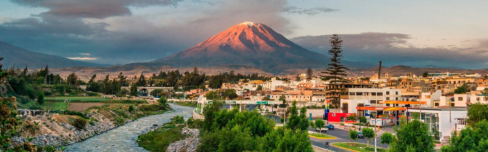 Trekking up to Misti Volcano