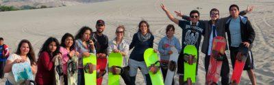Sandboarding on the Conache Dunes – Lake Conache